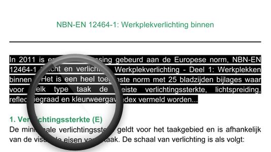 Screenshot over EU normering