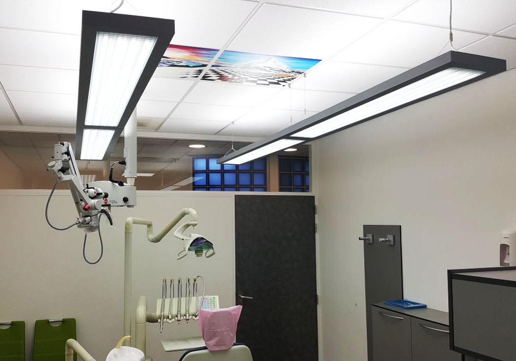 tandarts praktijk Nedereind verlichting